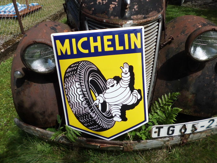 Enamel sign - Michelin, running service, 60 x 45 cm