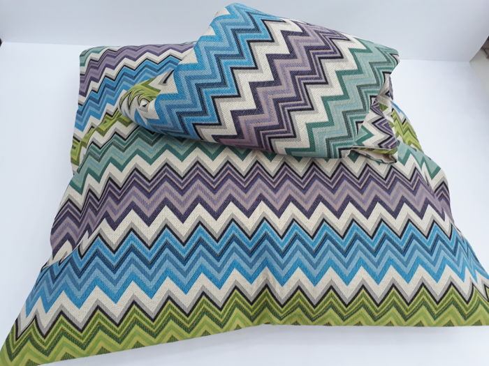 Missoni 1983 - two pillowcases without padding - 60 x 60 - vintage, new - 100% thread dyed cotton - great rarity