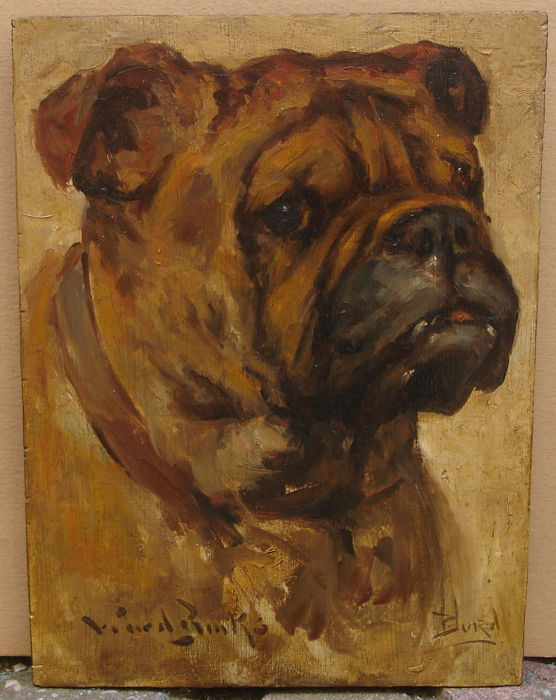 Reuben Ward Binks - Portrait of an English bulldog