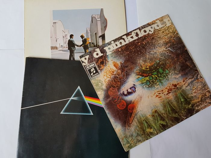 Pink Floyd ‎– Wish You Were Here with inner sleeve & The Dark Side Of The Moon Gatefold & A Saucerful Of Secrets