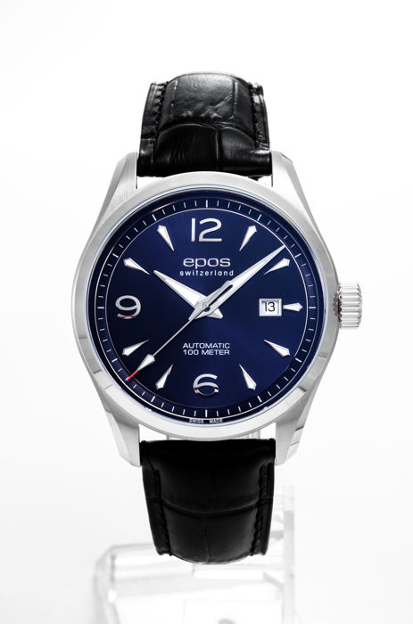 Epos - Automatic with blue dial Men's watch - 3401/F-BLU-ARAB - Men - 2011-present