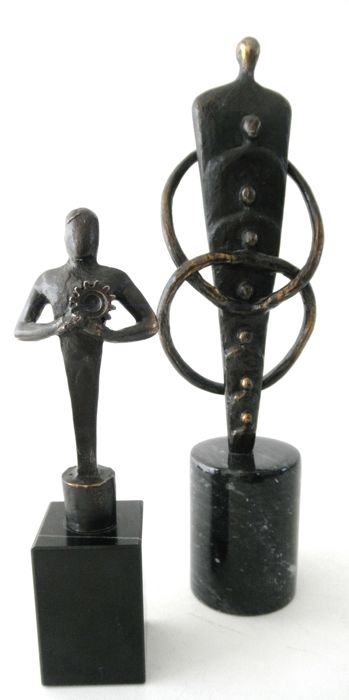 2 Sculptures - both signed with a monogram