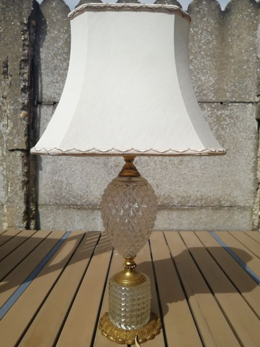 Pineapple lamp, glas en messing