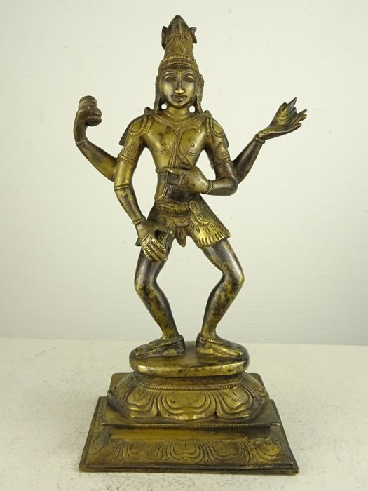 Heavy bronze figure of Shiva Nataraja - Southern India - second half 20th century