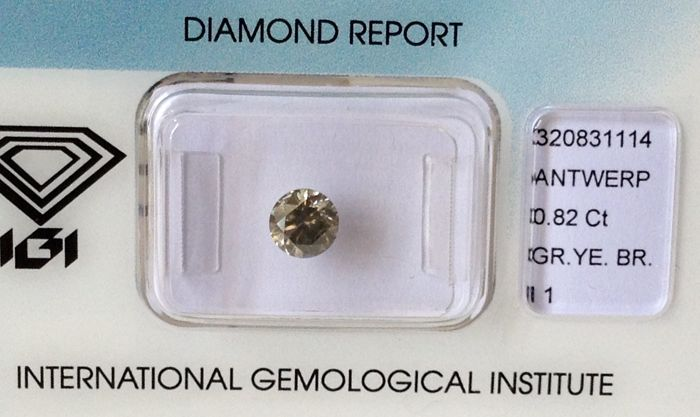 Natural Diamond Round Brilliant 0.82 Carat I1  IGI-Seal