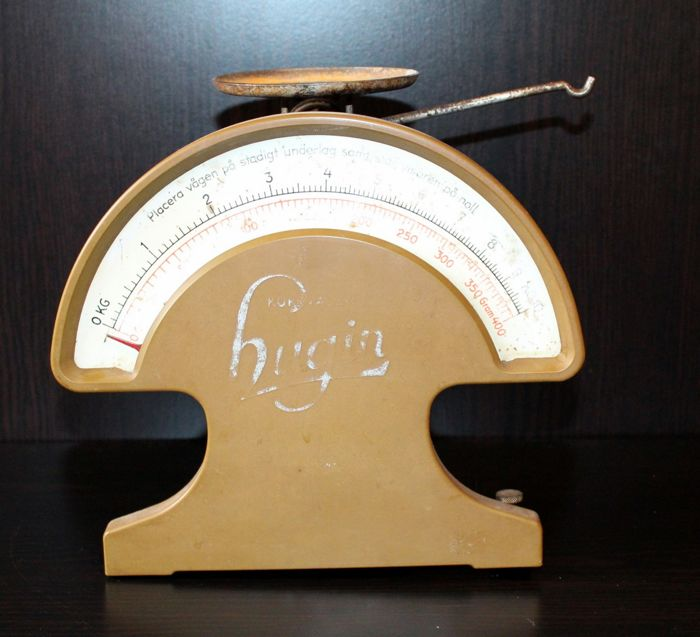 The Swedish weight scale, Hugin - half of the 20th century