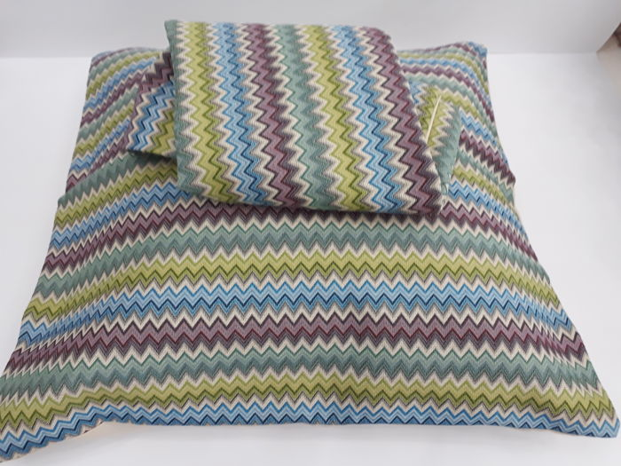 Missoni 1984 - two pillowcases without padding - 60 x 60 - vintage, new, 100% thread dyed cotton - great rarity