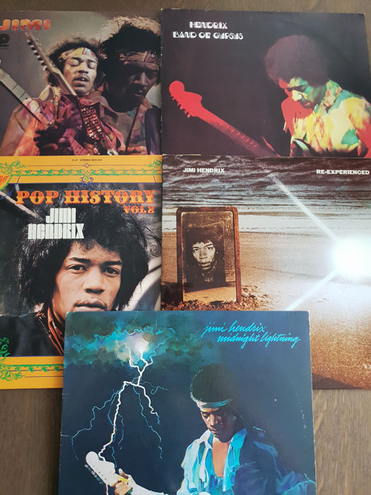 5 Albums and 1 DVD edition of the legendary guitarist, James Marshall Hendrix (Jimi)
