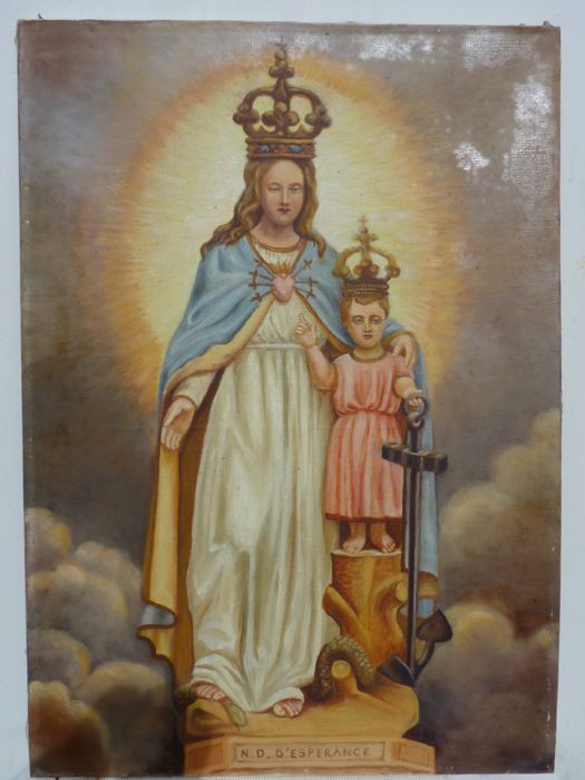 Painting, oil on canvas, Notre Dame de la Sainte 'Espérance