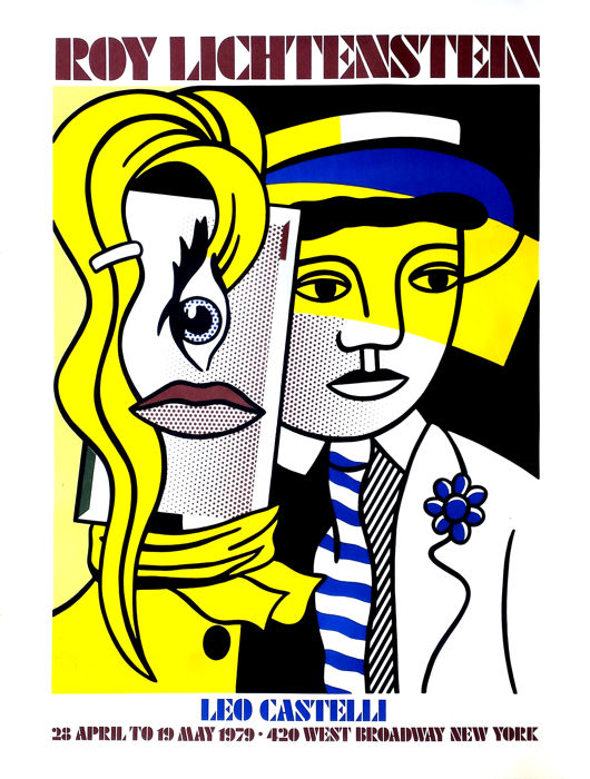 Roy Lichtenstein - Steppin Out - Leo Castelli Gallery NY