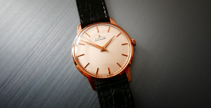 Zenith - Automatic in 18k Solid Gold rare cal. 133.8  - Heren - 1960-1969