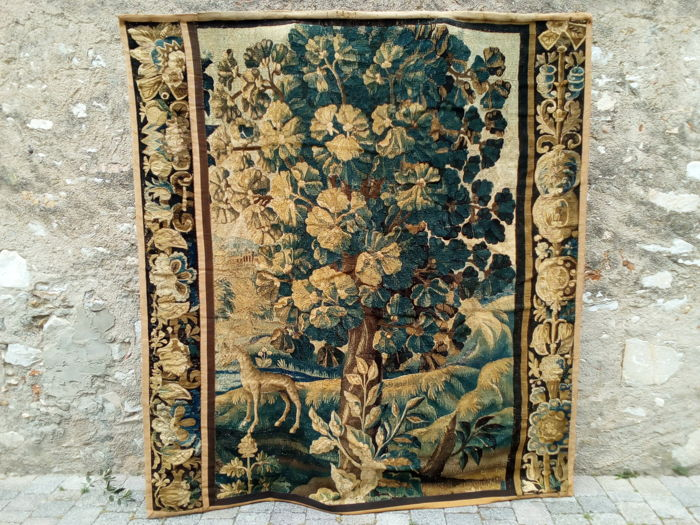 A large Aubusson verdure tapestry fragment, France, late 17th century