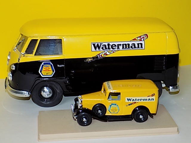 Waterman advertising model cars - Volkswagen van and delivery van