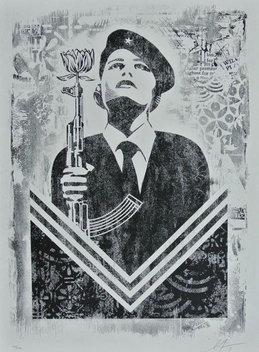Shepard Fairey (OBEY) - Peace Guard 2 - Stencil Series + Bonus