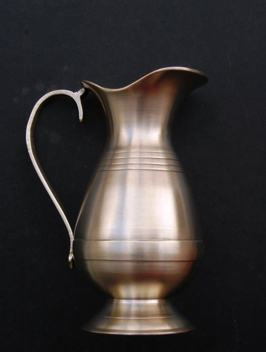 Antique Solid Brass Ewer/Pitcher, European, Late 19th century