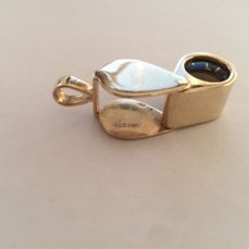 Loupe in 14K Solid Yellow Gold Folding  10X Vintage
