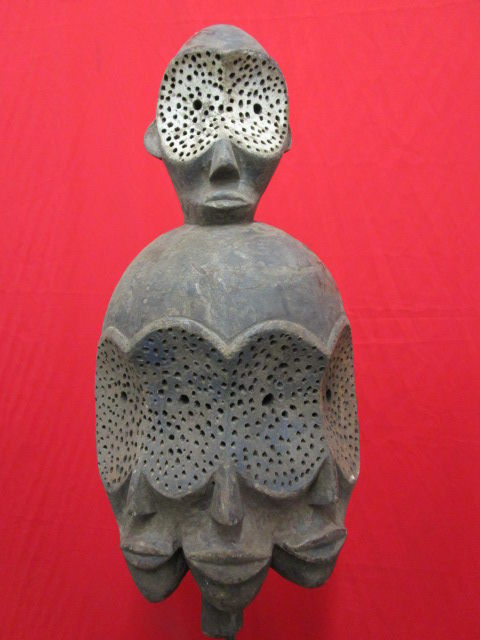 Mask with multiple faces - BENA LULUWA or BENA LWALWA - D.R of Congo