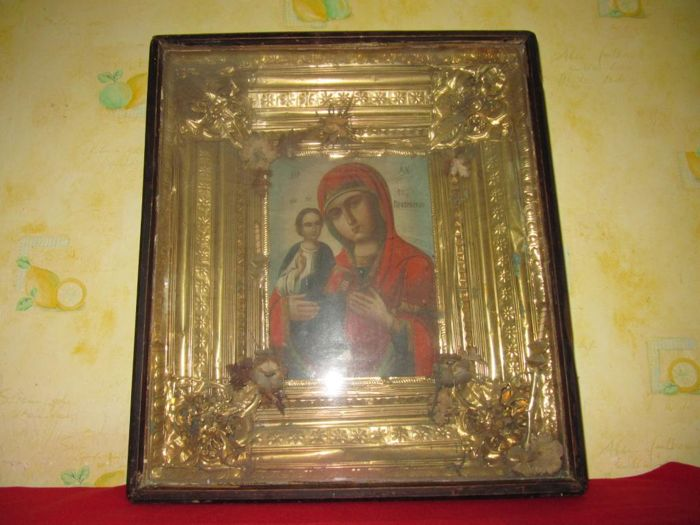 Orthodox Russian icon Virgin Mary - late 19th century