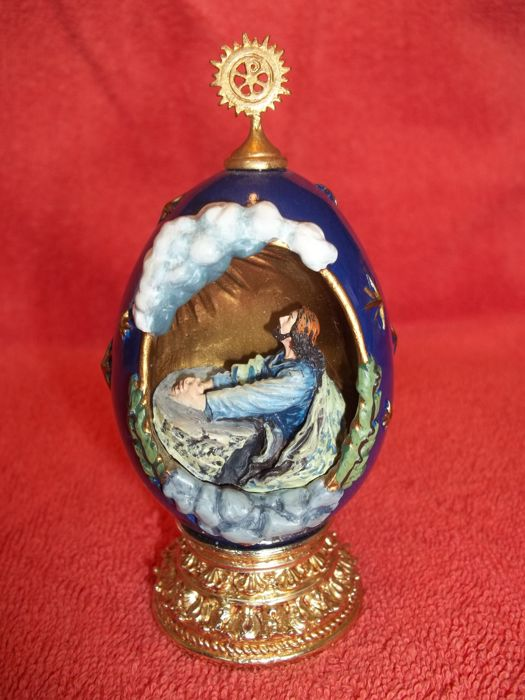 "House of Fabergé - ""The Agony in the Garden"" - A Nativity Collector Egg - Limited Edition - Marked - Very good condition."