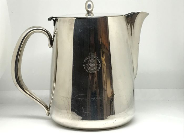 Christofle, jug/pitcher for orangeade with lid (silver plated metal)
