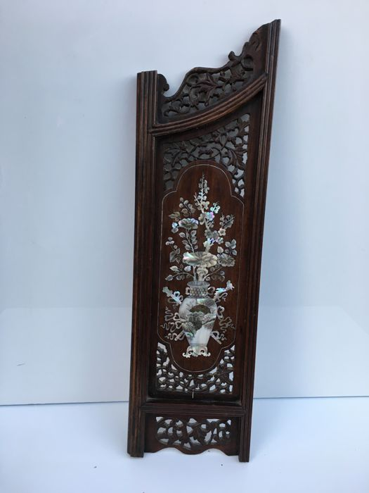 scholarly screen panel in exotic wood - Indochina 1802-1945