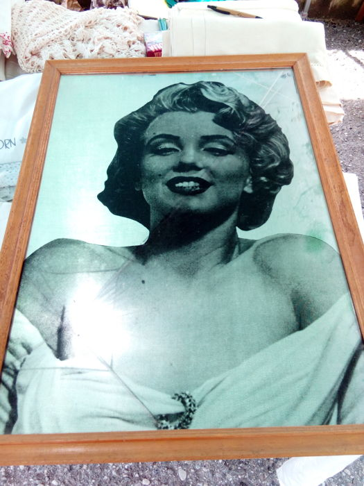 Marilyn Monroe mirror picture - 20th century - 80 x 76 x 57 cm