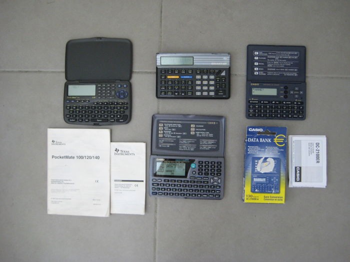 Vintage Texas Instruments Pocket Mate , Casio Digital Diary + Data Bank