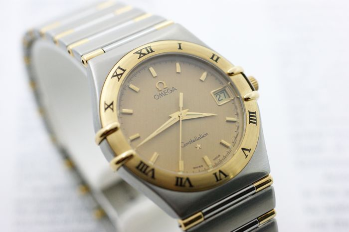 Omega - Constellation Gold/Steel Champagne - Ref.1312.10.00 - Heren - 1990-1999