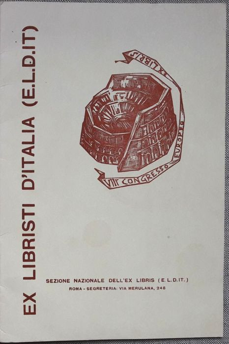 Folder of 14 Exlibris - Ex libristi d'Italia on occasion of the VIII° Congresso Europeo Ex Libris
