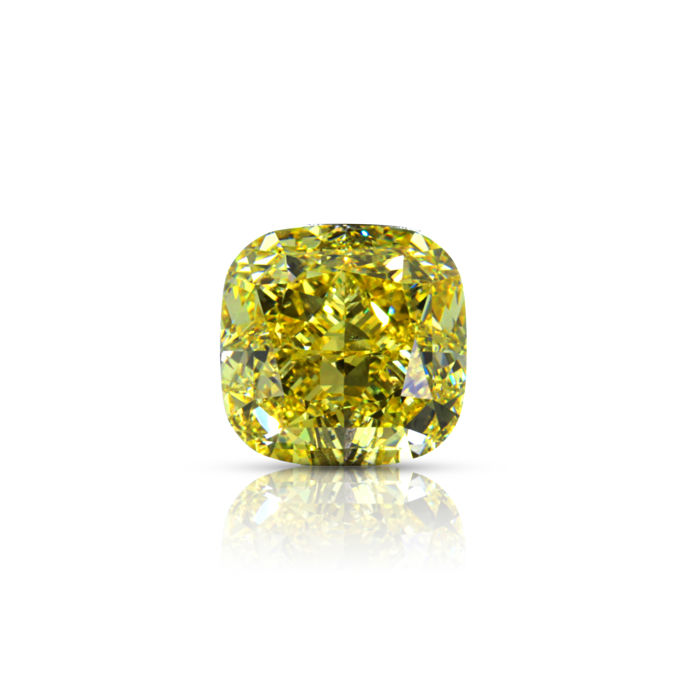 Natural Fancy Brownish yellow 2.36 ct. Cushion shape Diamond, GIA Certified,