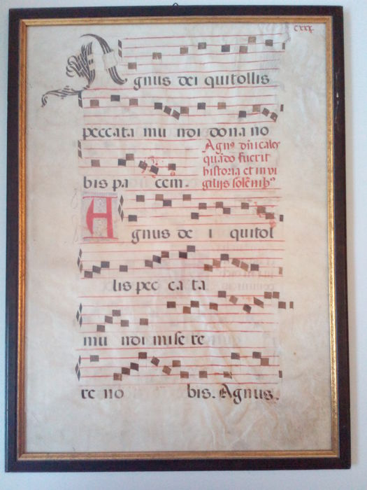 Antiphonale - Latin manuscript on vellum Italy, ca 1450 A.D