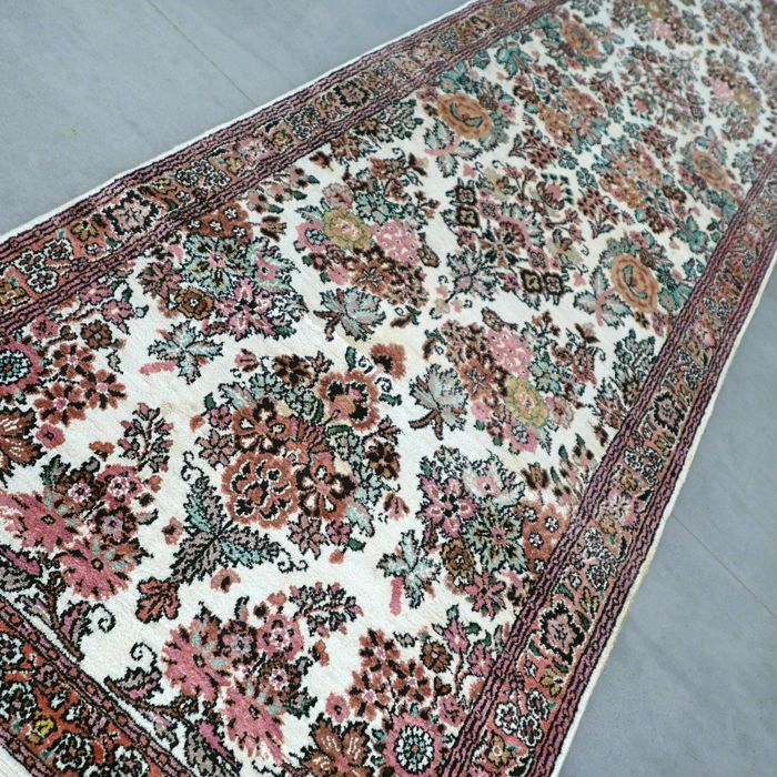 Silk Kashmir runner, India - 260 x 75 cm