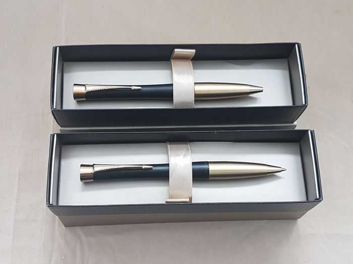 2x Parker Urban Muted Black GP BP Pen