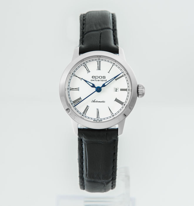 Epos - White Dial Automatic Ladies Watch 30MM - 4432/F-WHT-ROM - Senhora - 2011-presente