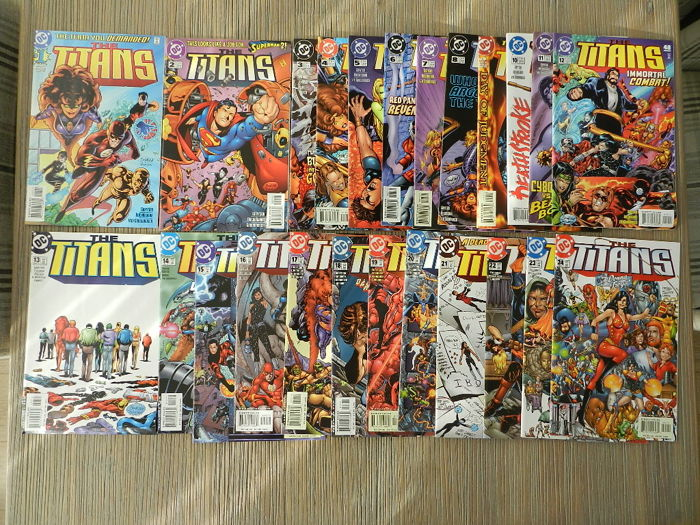 The Titans -  # 1-25 & Teen Titans # 1-24 &more - 55x - Softcover - Eerste Druk - (1996/2001)