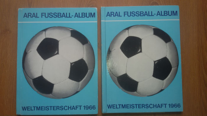 Variant Panini - 2 x Aral - Football World Cup 1966 England - complete albums!