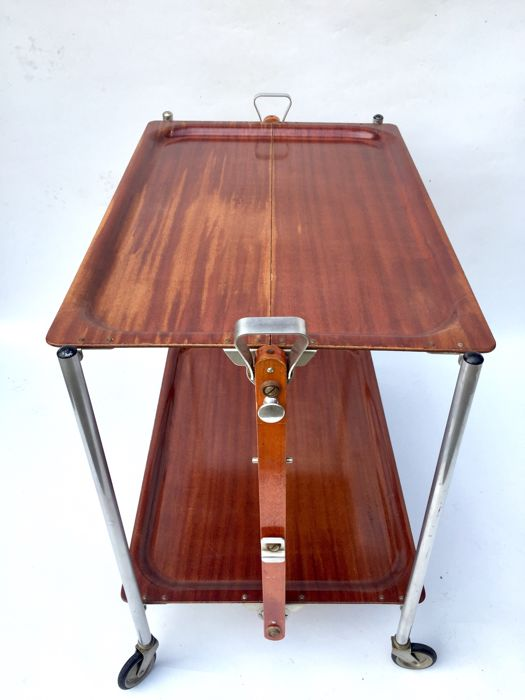 Textable   Folding Side Table, Moulded Plywood, Vintage Edition