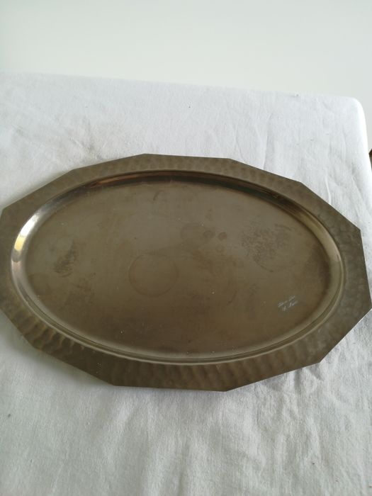 Handmade silver plated Tray