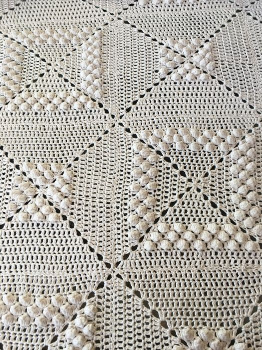Crochet bedspread - 100% cotton, quality - Exceptional work