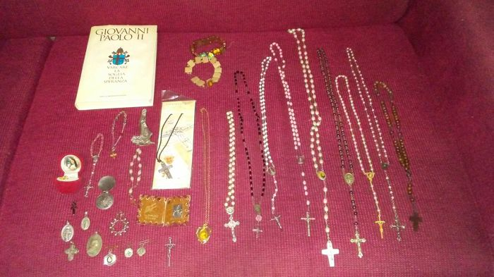 From 20th century  9 x rosary and other Roman Catholic