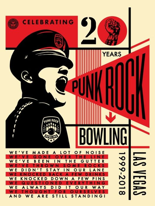 Shepard Fairey (OBEY) - Punk Rock Bowling 20th