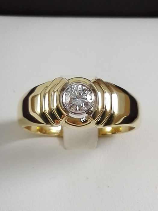18 quilates Oro amarillo - Anillo - 0.27 ct Diamante