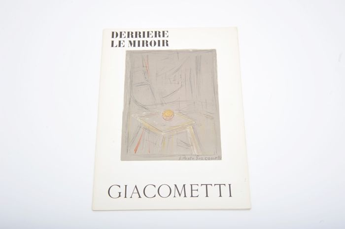 Alberto Giacometti - Derrière le Miroir. With 2 original lithographs  - 1954