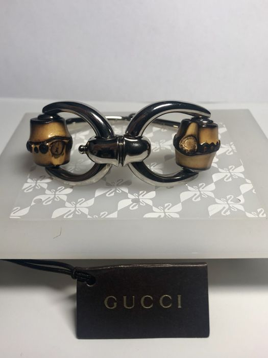 Gucci - Silver 925 - Silver and bamboo bracelet