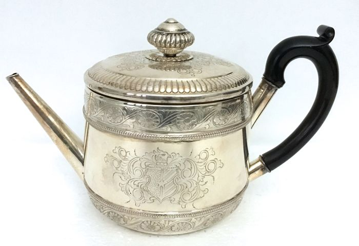 Tea/Coffe Maker Silversmith of Alessandria (Italy), 20th c