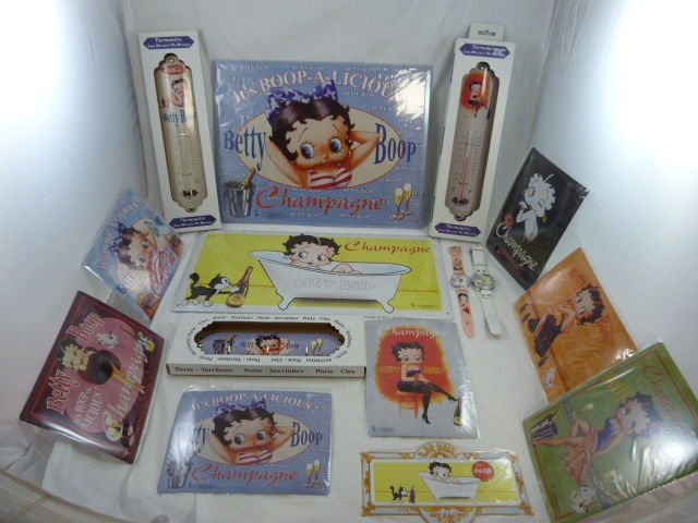 "Betty Boop collectie ""wandborden, horloge, thermometers"""