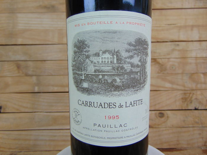 1995 Carruades de Lafite, 2nd wine of Chateau Lafite Rothschild, Pauillac - 1 bottle