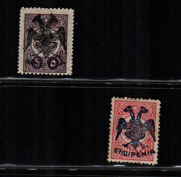 Albanië 1913 - Overprinted stamps of Turkey - Unificato NN. 10 - 13