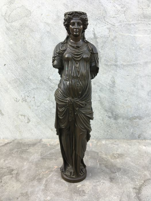 Bronze sculpture of a female figure after a classic example - marked Achille Collas - France - third quarter of the 19th century