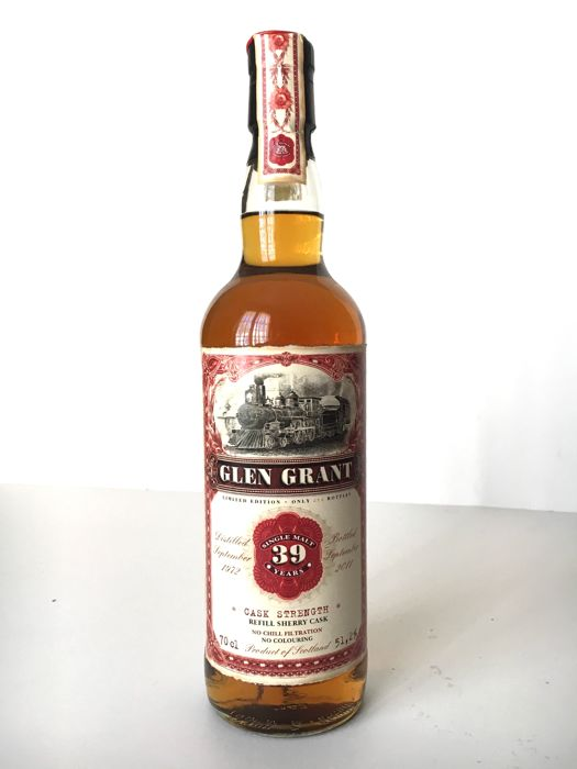 Glen Grant 1972 Jack Wieber's Old train line 39 years old